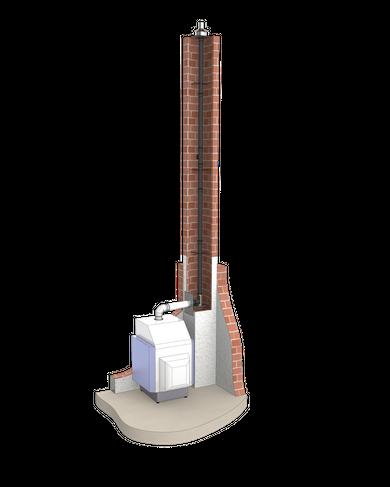 Kunststoffrohr für den Kamin von Pignitter